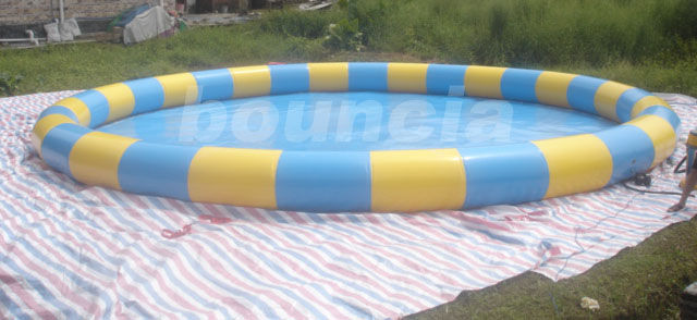 Outdoor Round Inflatabel Water Pool For Paddle / Bumper Boat Use