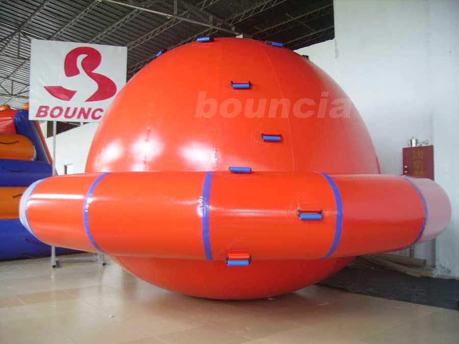 Commercial Grade PVC Tarpaulin Inflatable Saturn Rocker For Water Park Games
