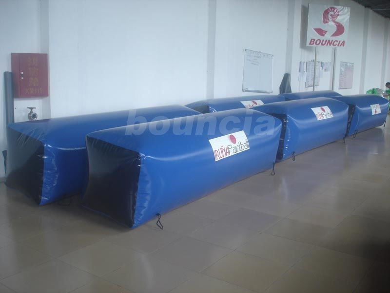 0.6mm Durable Inflatable Beam Shape Bunker for Commercial Use