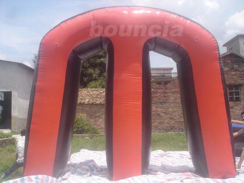Red Commercial Grade PVC Tarpaulin Inflatable M Millennium Paintball Bunker for Outdoor Sports