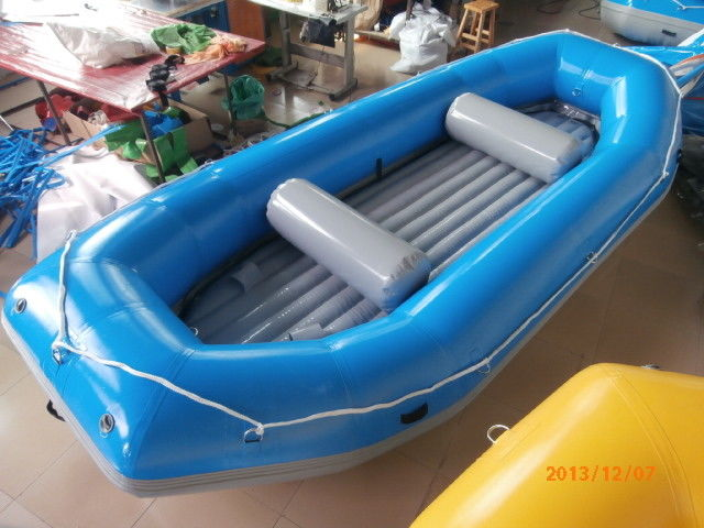 Blue River Rafting Boat With Inflatable Floor / Raft Inflatable Boat